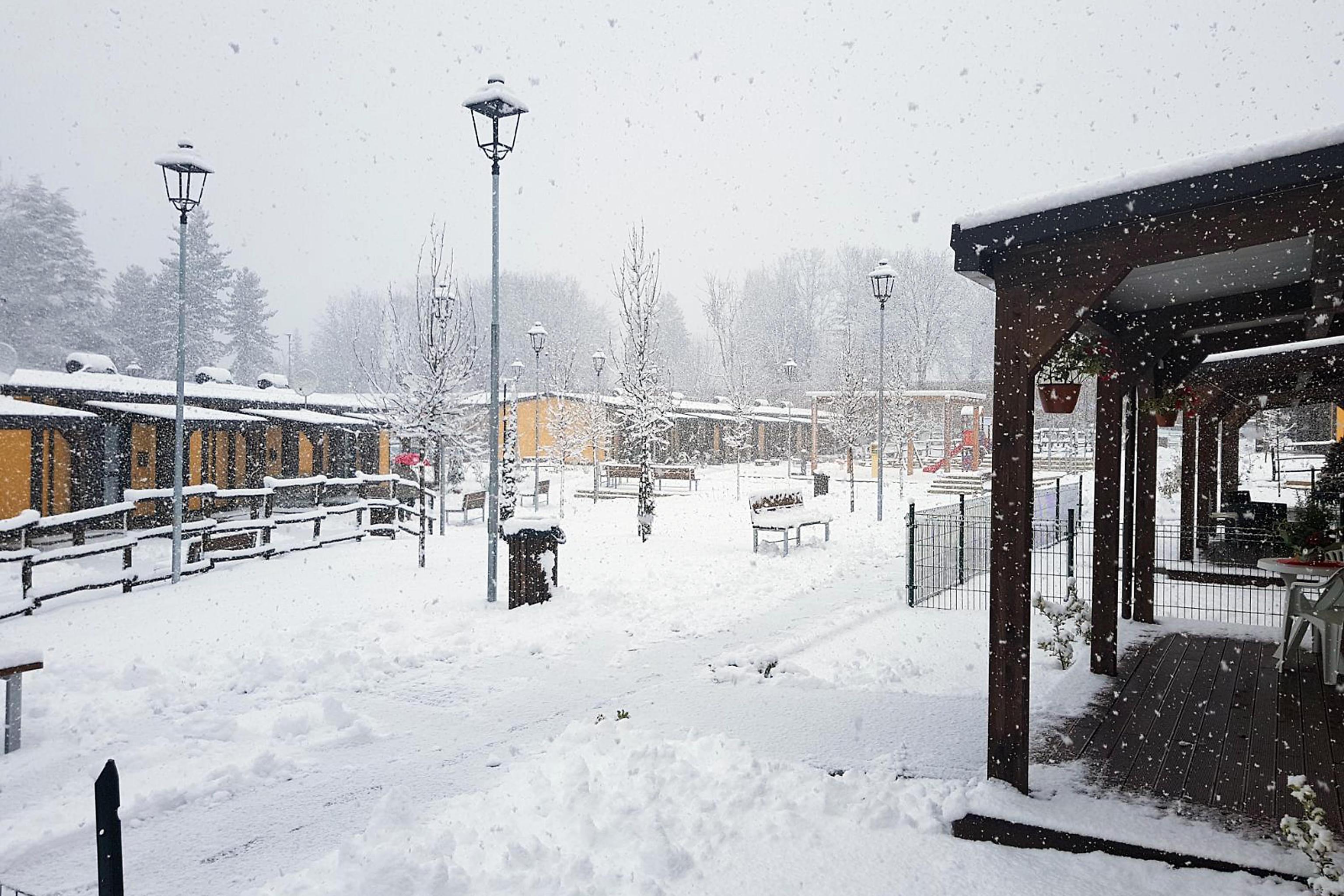 Neve ad Amatrice e Accumoli: disagi per terremotati che vivono ancora nelle casette