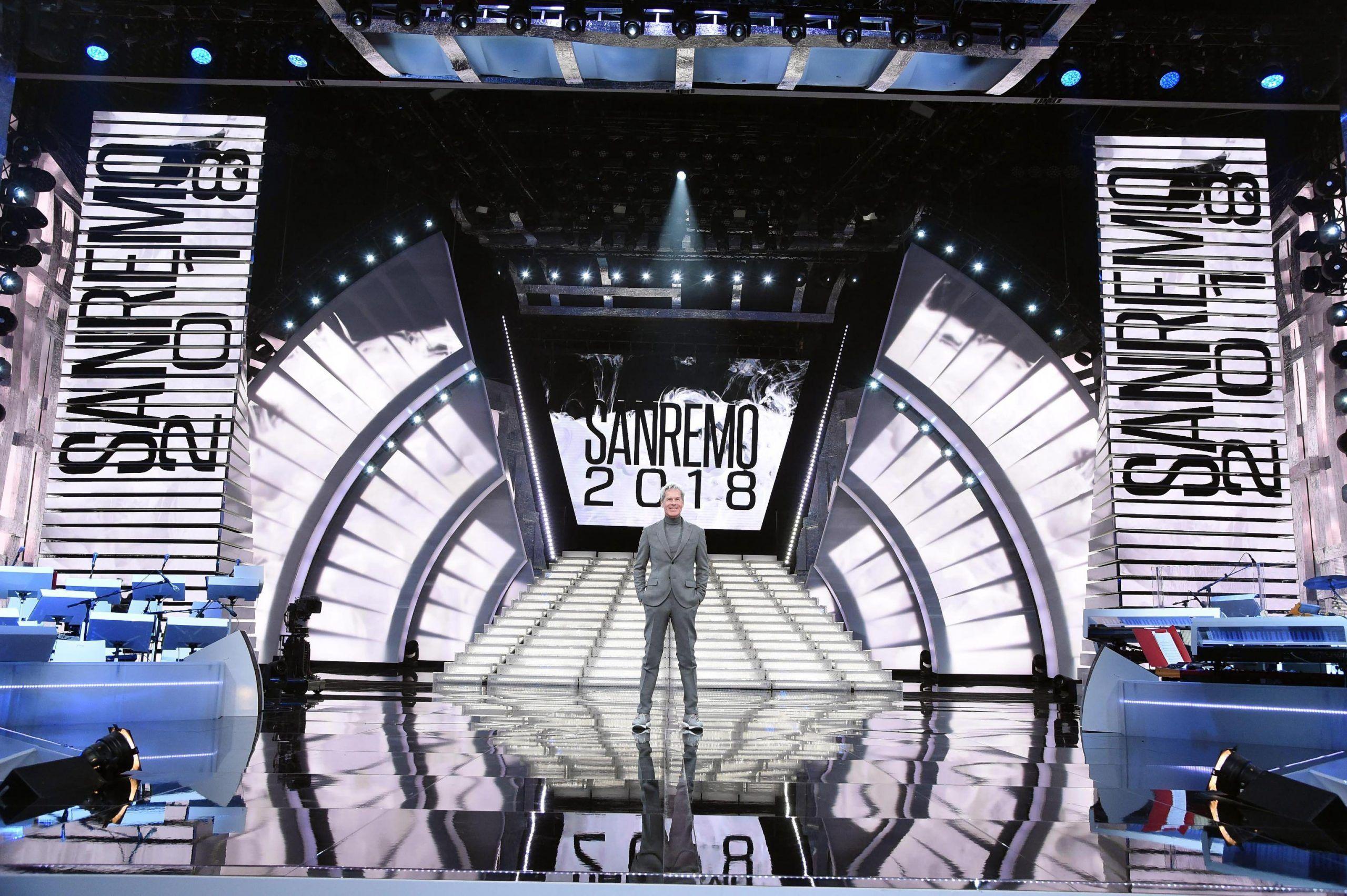 Sanremo: la scenografia del Festival