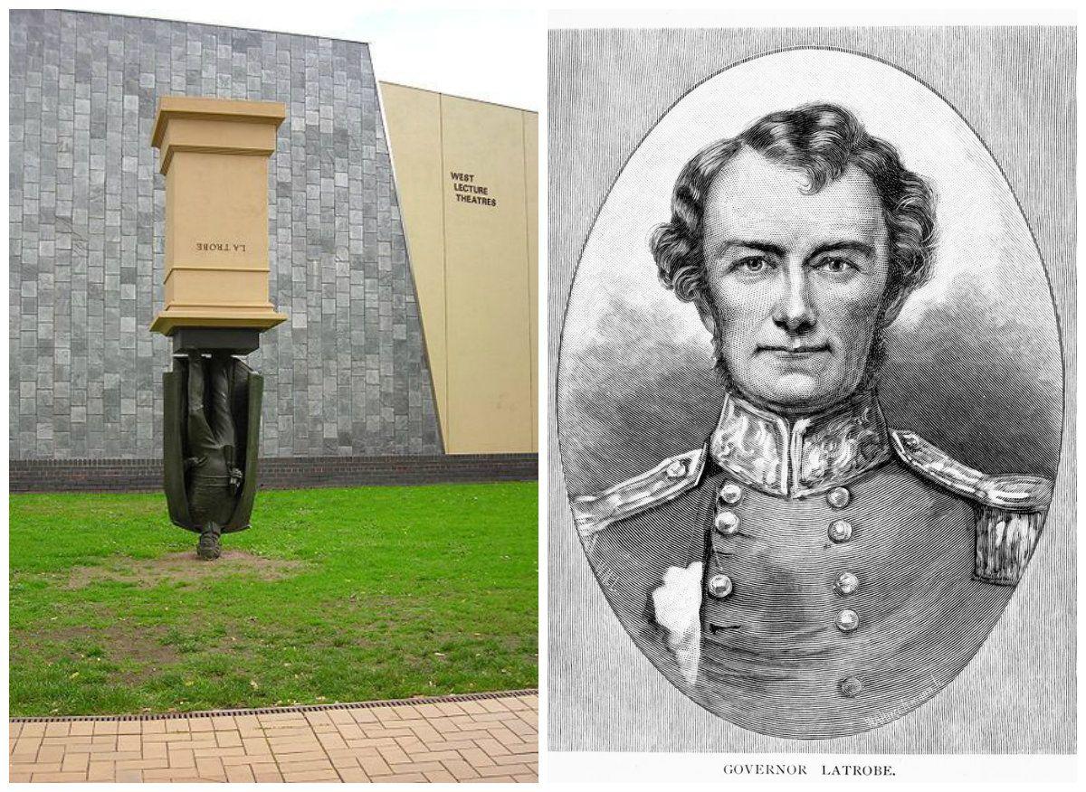 sculture strane monumento capovolto
