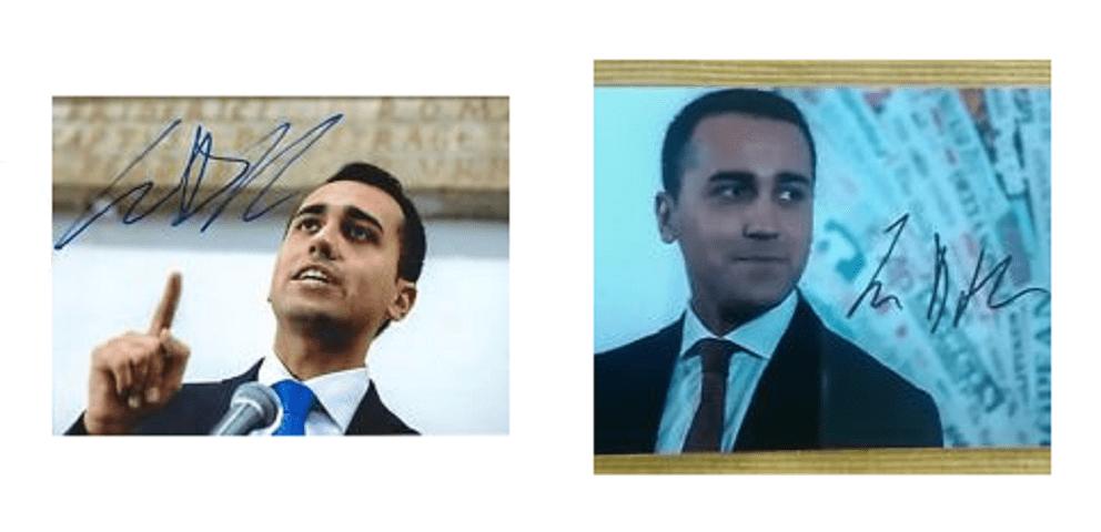 La foto con autografo di Luigi Di Maio in vendita sul web a 19 euro