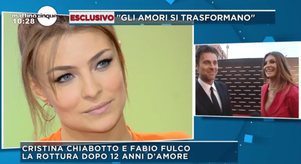 Cristina Chiabotto a Mattino Cinque parla di Fabio Fulco