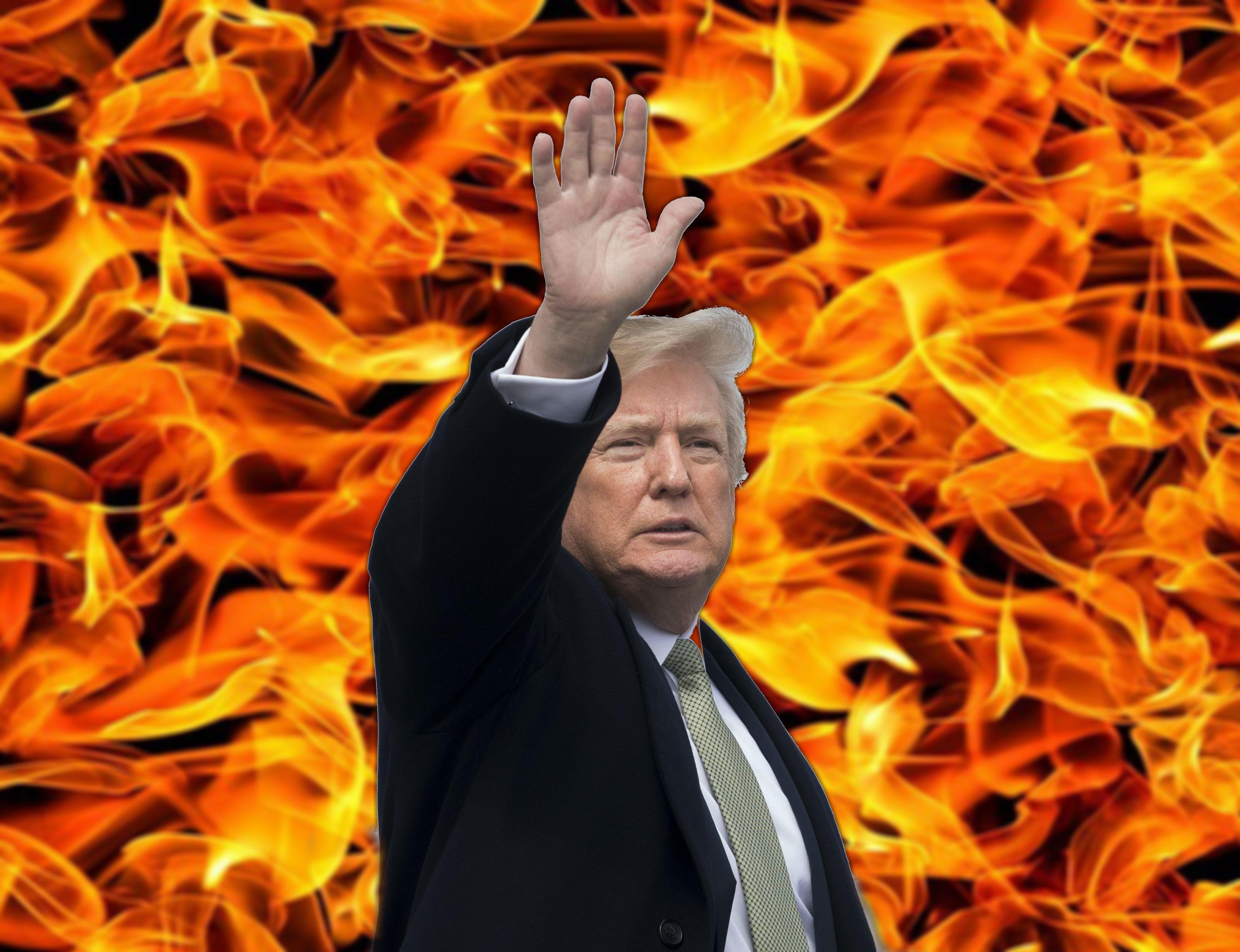 Donald Trump fiamme