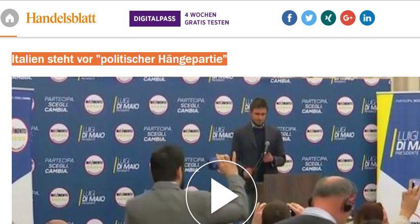 Elezioni 2018 Handelsblatt