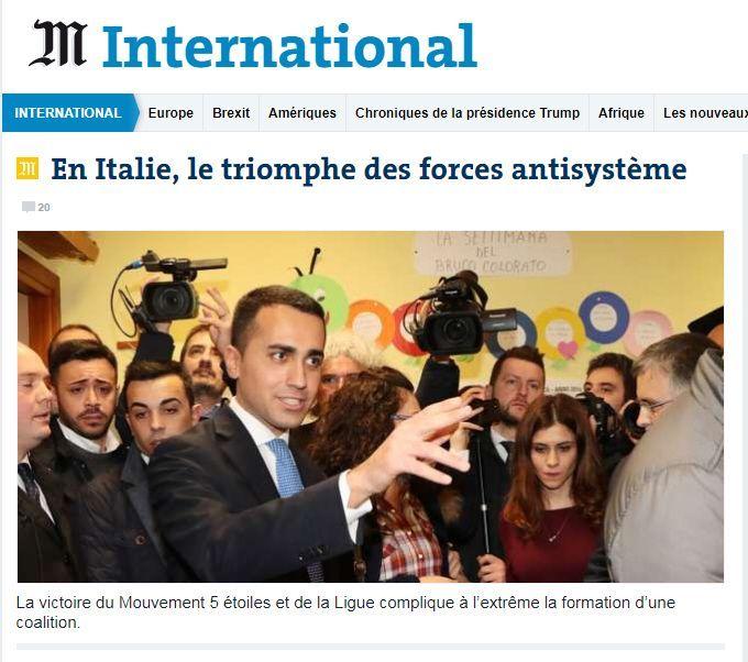 Elezioni 2018 Le Monde