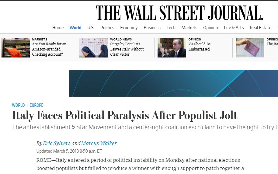 Elezioni 2018 The Wall Street Journal