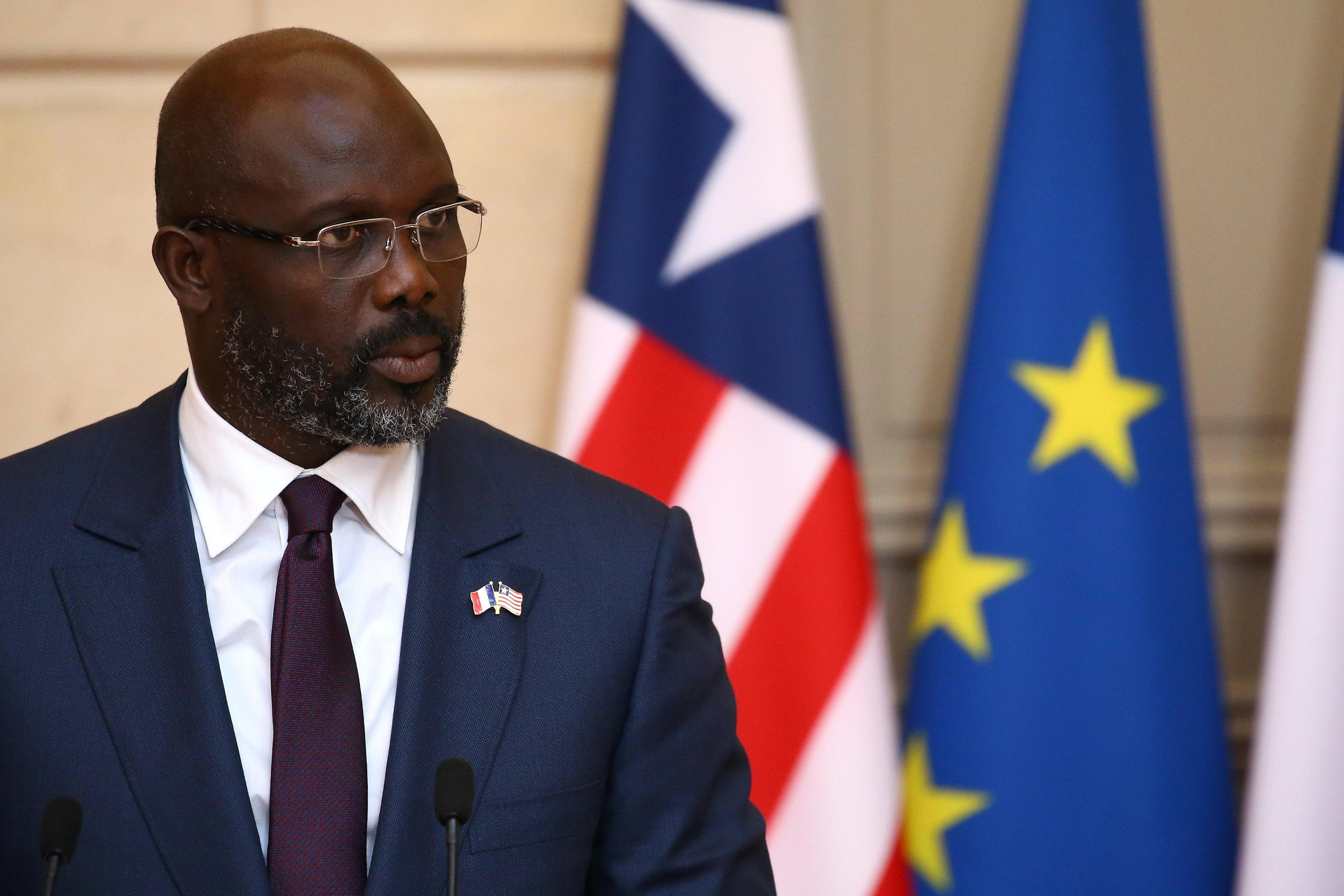 Liberian President George Weah in Paris