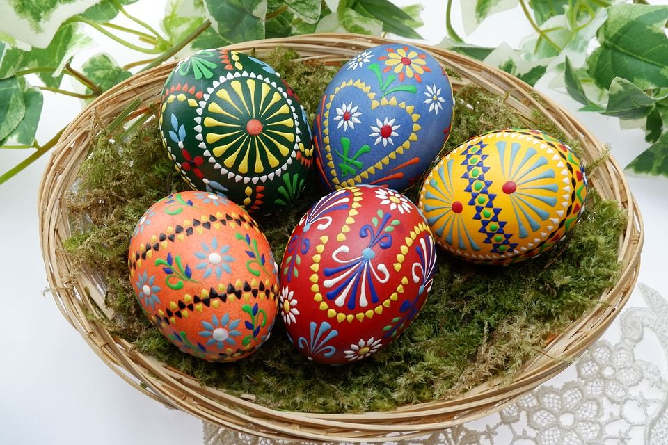 Immagini uova di pasqua decorate