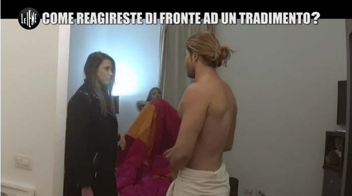 Le Iene, scherzo a Ivana Mrazova: Luca Onestini la 'tradisce' con una personal trainer