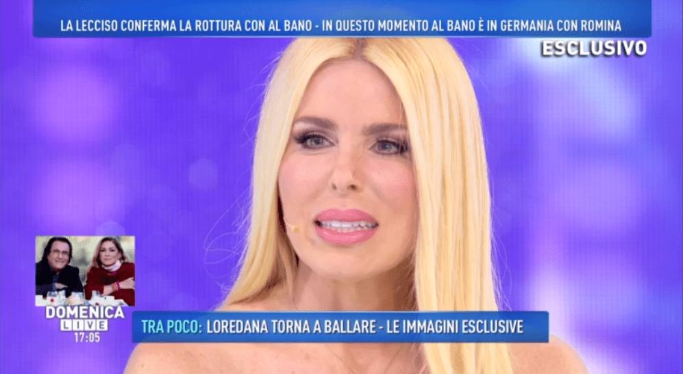 Domenica Live, Loredana Lecciso: la crisi con Al Bano e la querela contro Romina Power