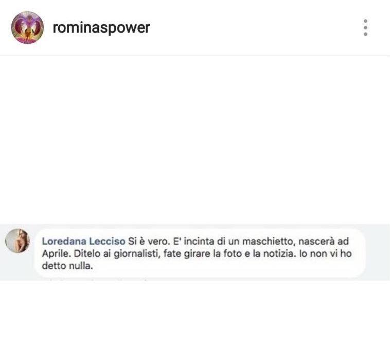 Post su IG di Romina Power