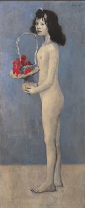 aste record Fillette à la corbeille fleurie Picasso