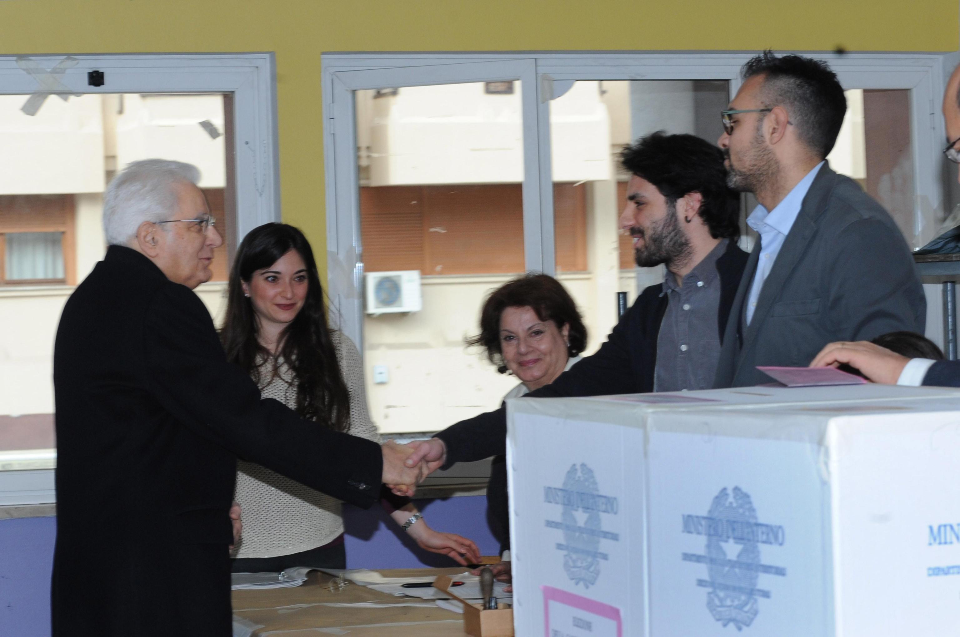 Elezioni 2018, Sergio Mattarella alle urne