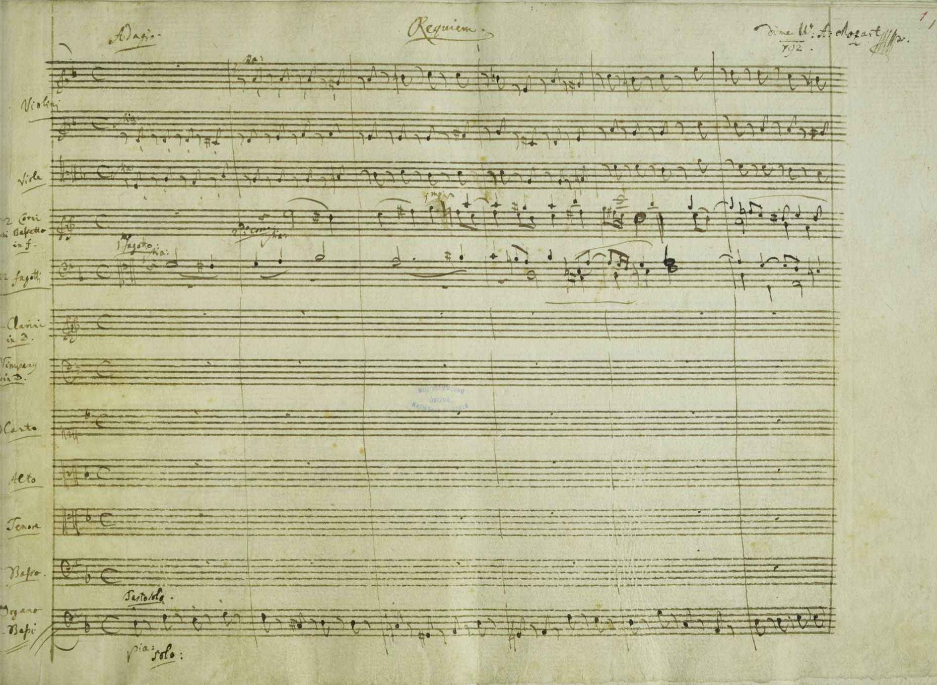 opere d'arte incompiute Requiem Mozart