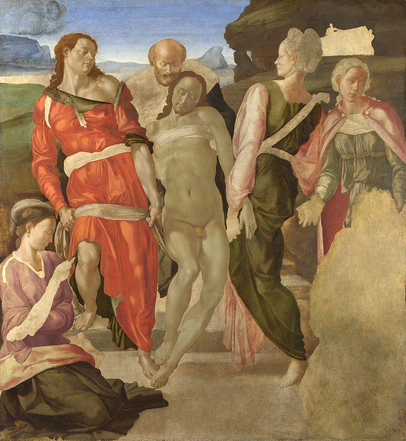 opere d'arte incompiute deposizione di cristo michelangelo