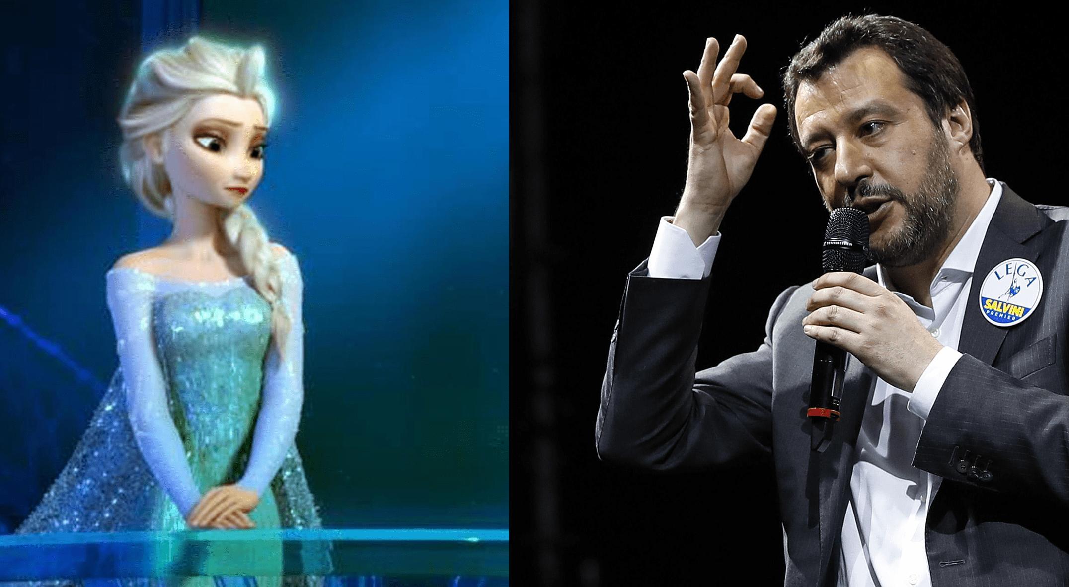 Salvini contro Elsa di Frozen: 'Non deve diventare lesbica'
