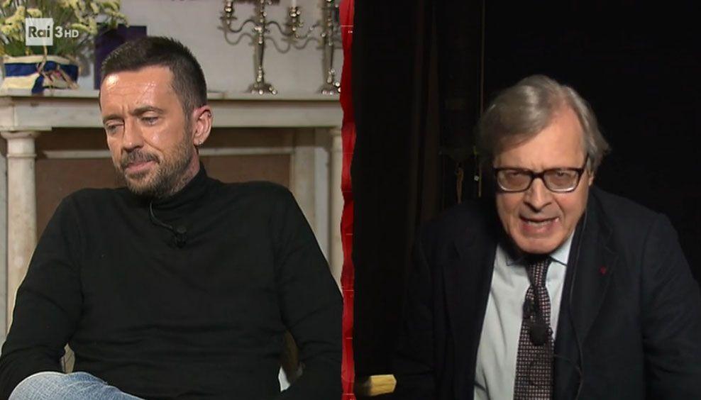 Vittorio Sgarbi vs. Andrea Scanzi, lite furibonda a Cartabianca