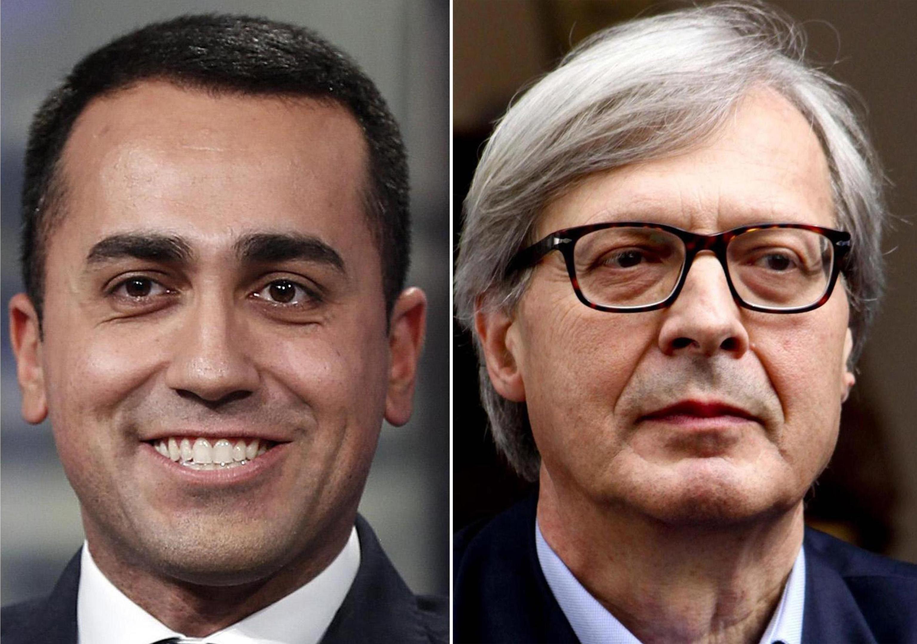'Luigi Di Maio è gay, sta con Vincenzo Spadafora', Vittorio Sgarbi provoca il capo politico del M5S in tv