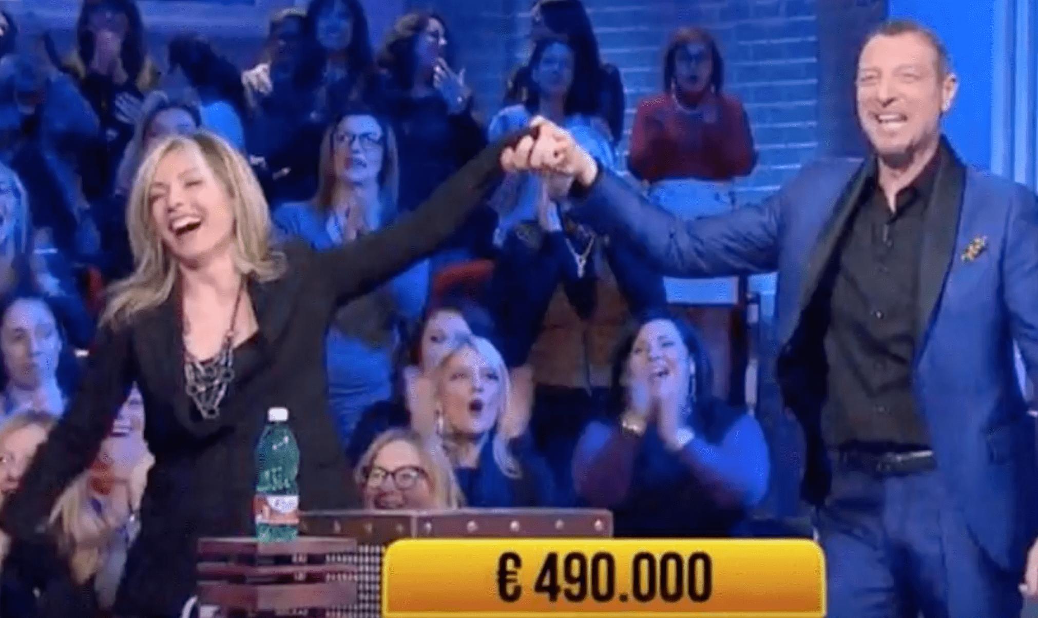 Soliti Ignoti, vincita record di 490mila euro per Loredana Andreozzi