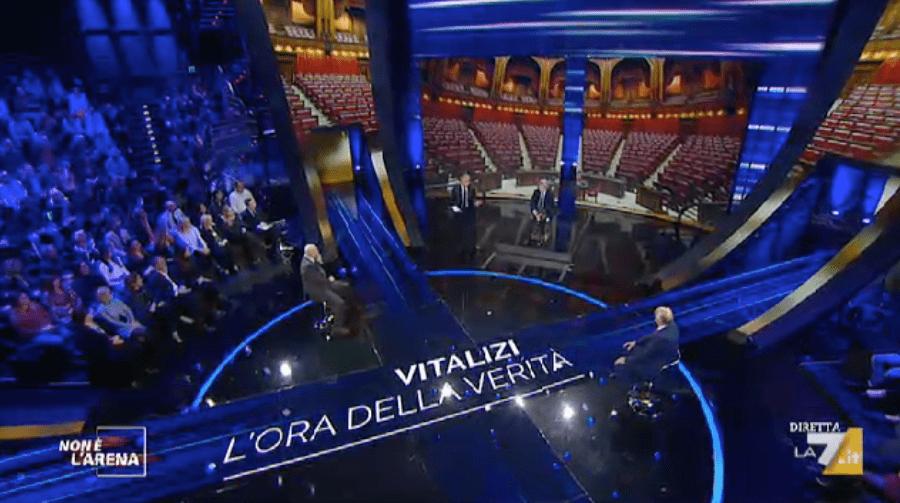 'Non è l'Arena', Bocchino contro Massimo Giletti: 'mostra i tuoi stipendi in Rai'