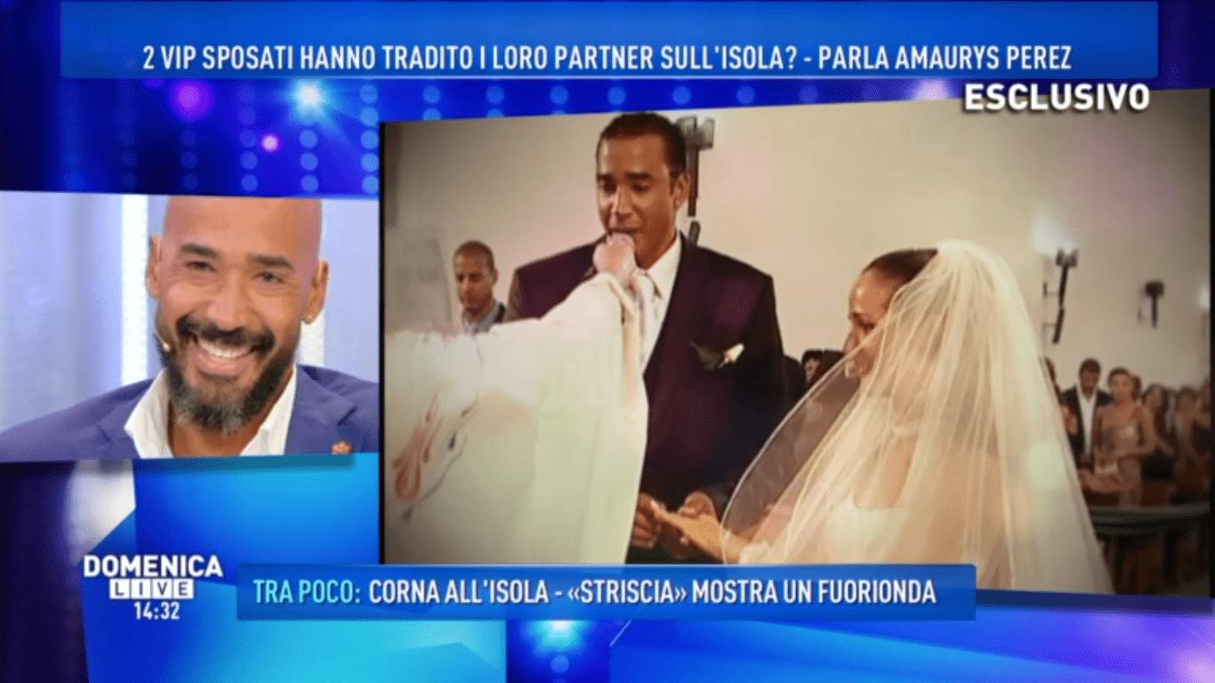 Amaurys Pérez: 'Non me ne frega niente, so quello che provo per mia moglie'