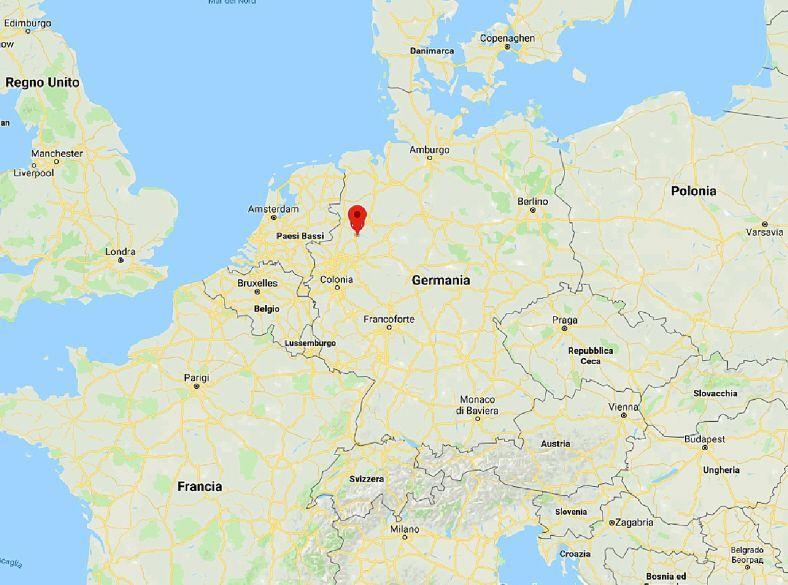 Attentato in Germania mappa Muenster
