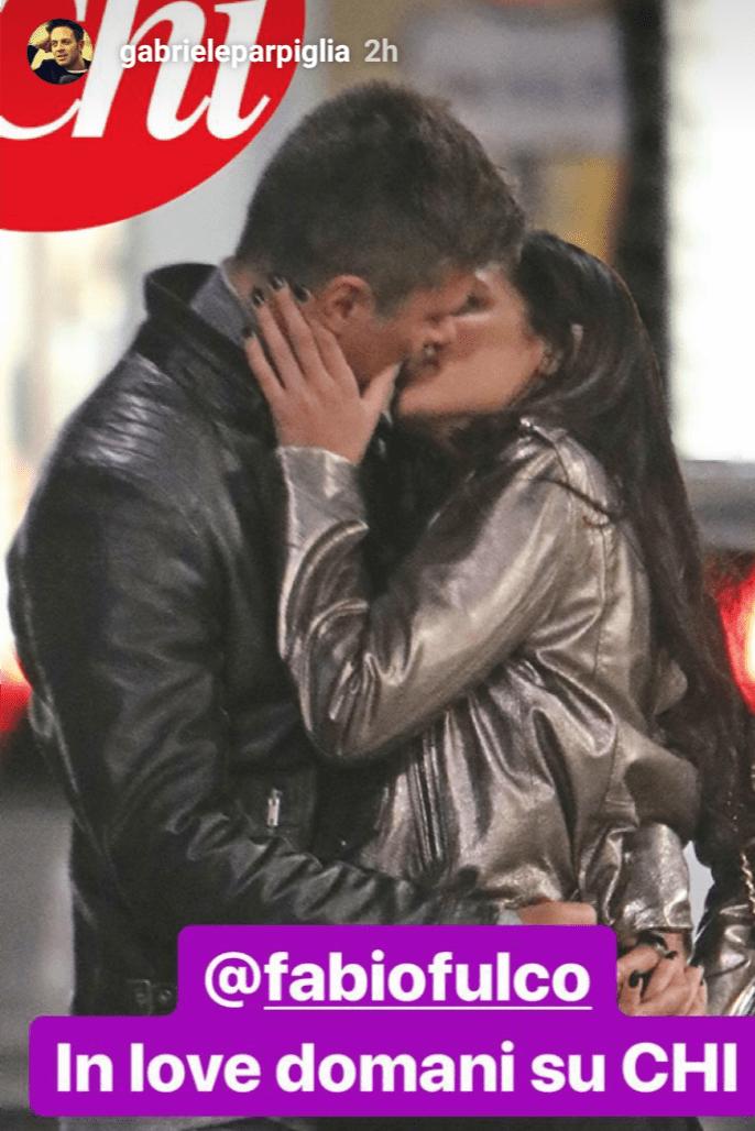 Fabio Fulco ed Eliana Sbaragli, il bacio