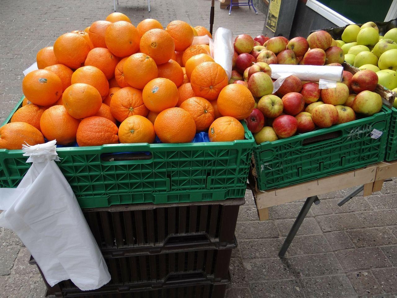 Sacchetti per frutta portati da casa