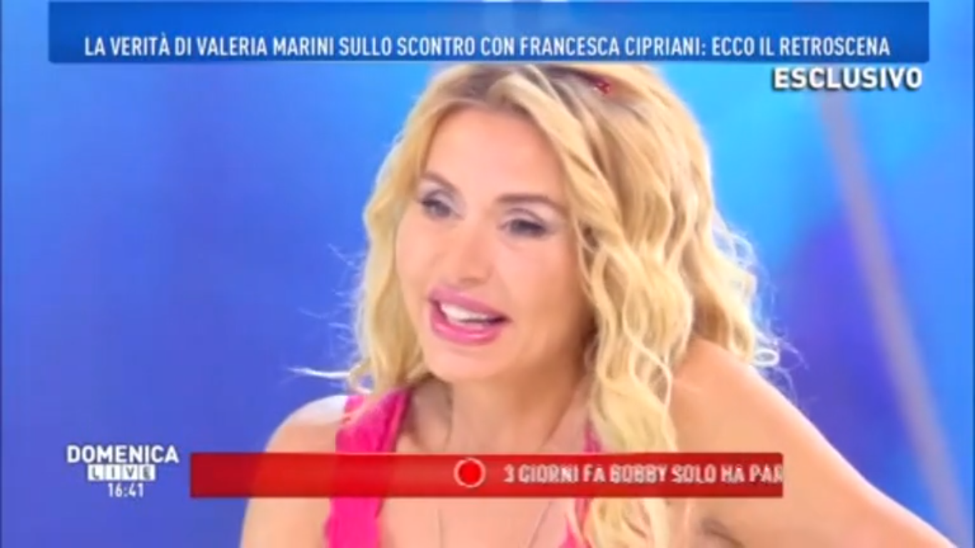 Valeria Marini: 'Sono andata da Vittorio Cecchi Gori in ospedale di nascosto'