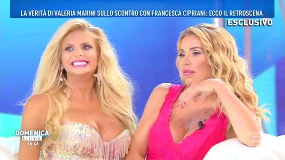 'Domenica Live', chiarimento tra Francesca Cipriani e Valeria Marini