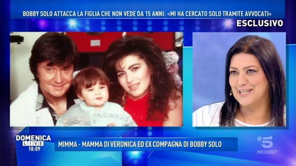 'Domenica Live', Mimma Foti: 'Bobby Solo è una persona cattiva'