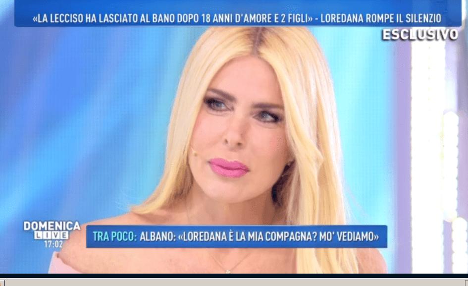 'Domenica Live', Loredana Lecciso è sconvolta e racconta la verità su Al Bano e Romina