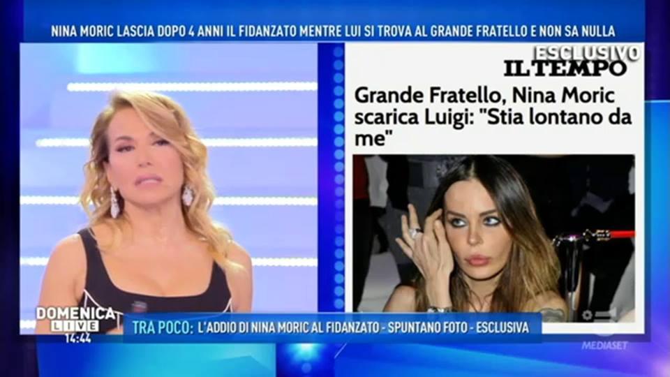 'Domenica Live', Nina Moric lascia il fidanzato, ma lui non sa nulla