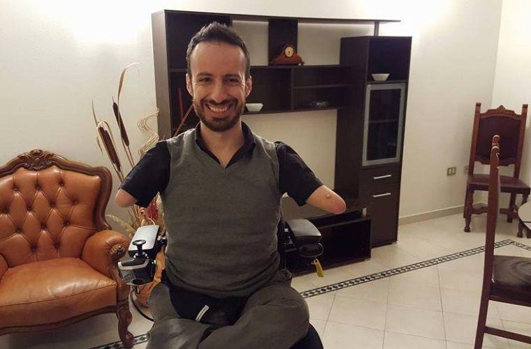 Senza braccia e senza gambe Max Sechi: 'Nella vita non ci sono sfide impossibili'