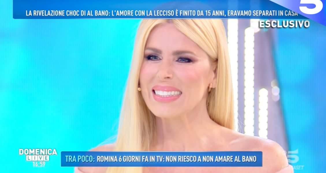 'Domenica Live', Loredana Lecciso risponde a Romina Power