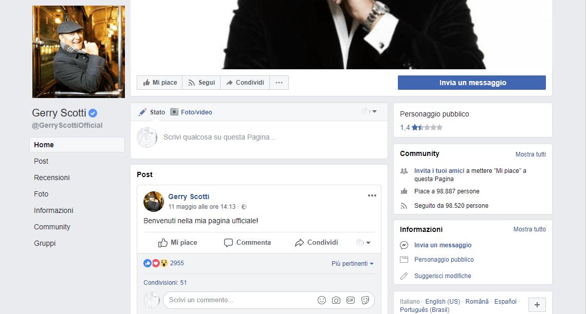Gerry Scotti apre una pagina facebook e scoppia la polemica