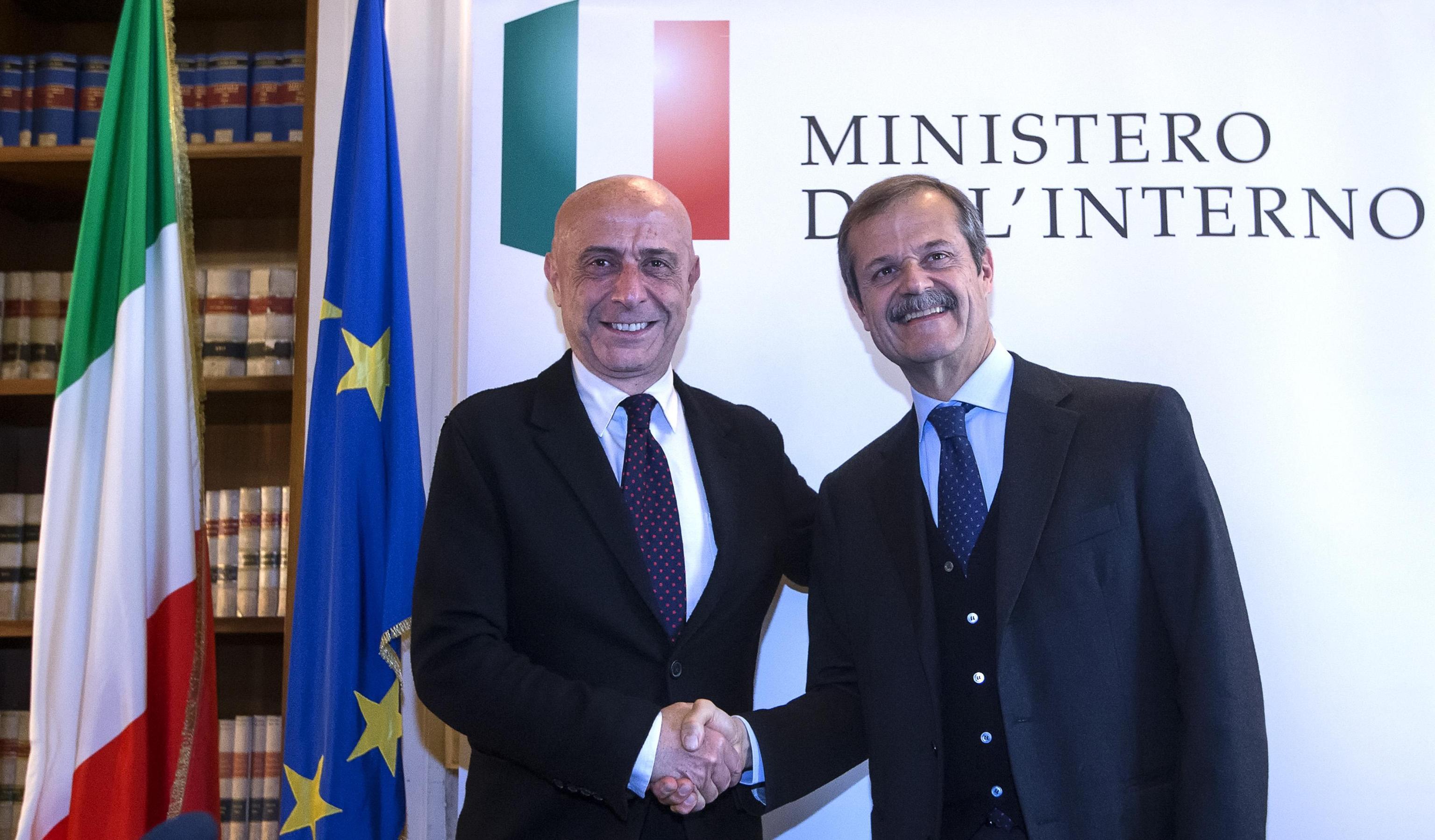 Marco Minniti e Giampiero Massolo