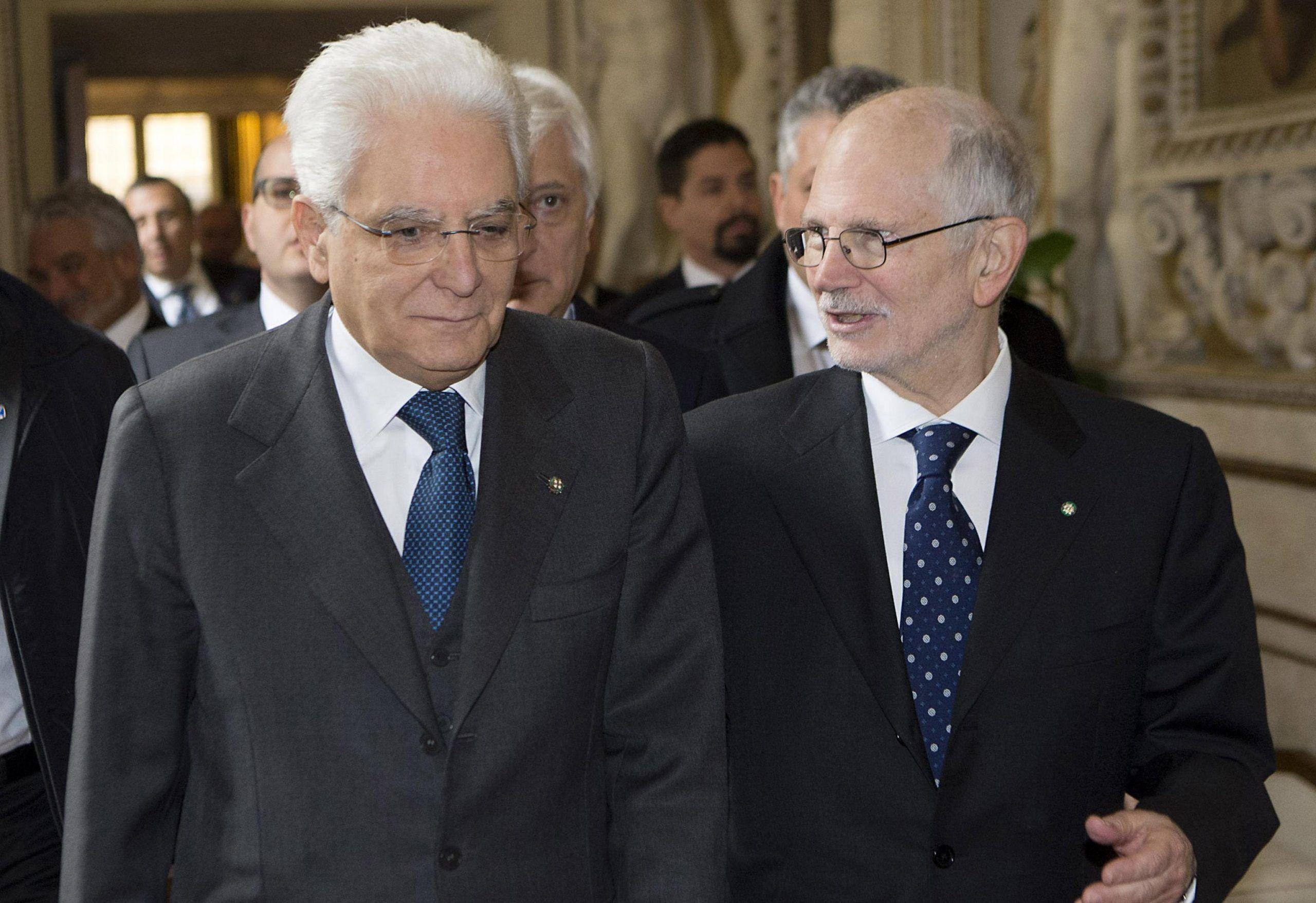 Sergio Mattarella e Alessandro Pajno