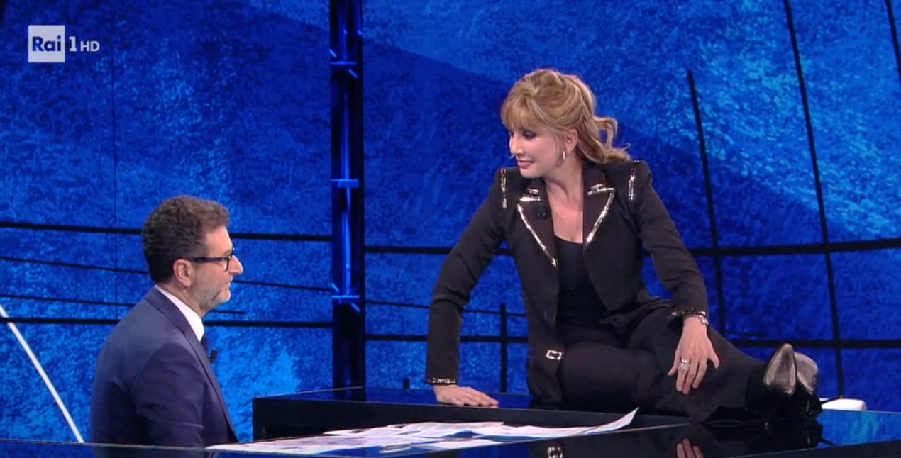 Milly Carlucci a Che tempo che fa, Fabio Fazio: 'Mi perdoni?'