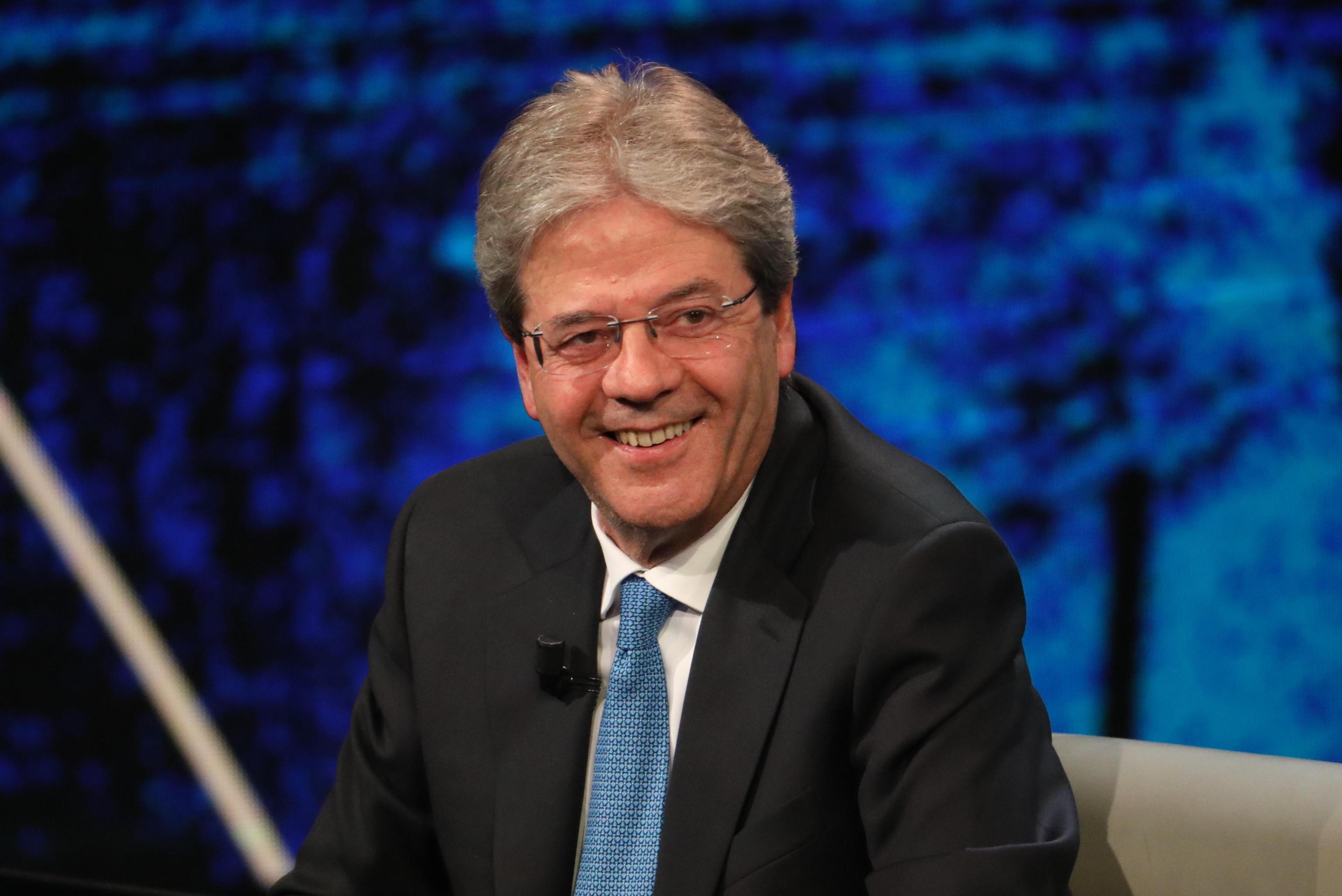 Italian Prime Minister Paolo Gentiloni on RAI TV