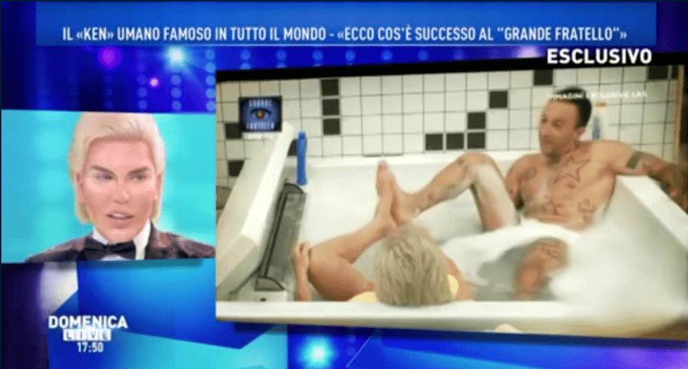 Rodrigo Alves e Simone Coccia, bagno insieme