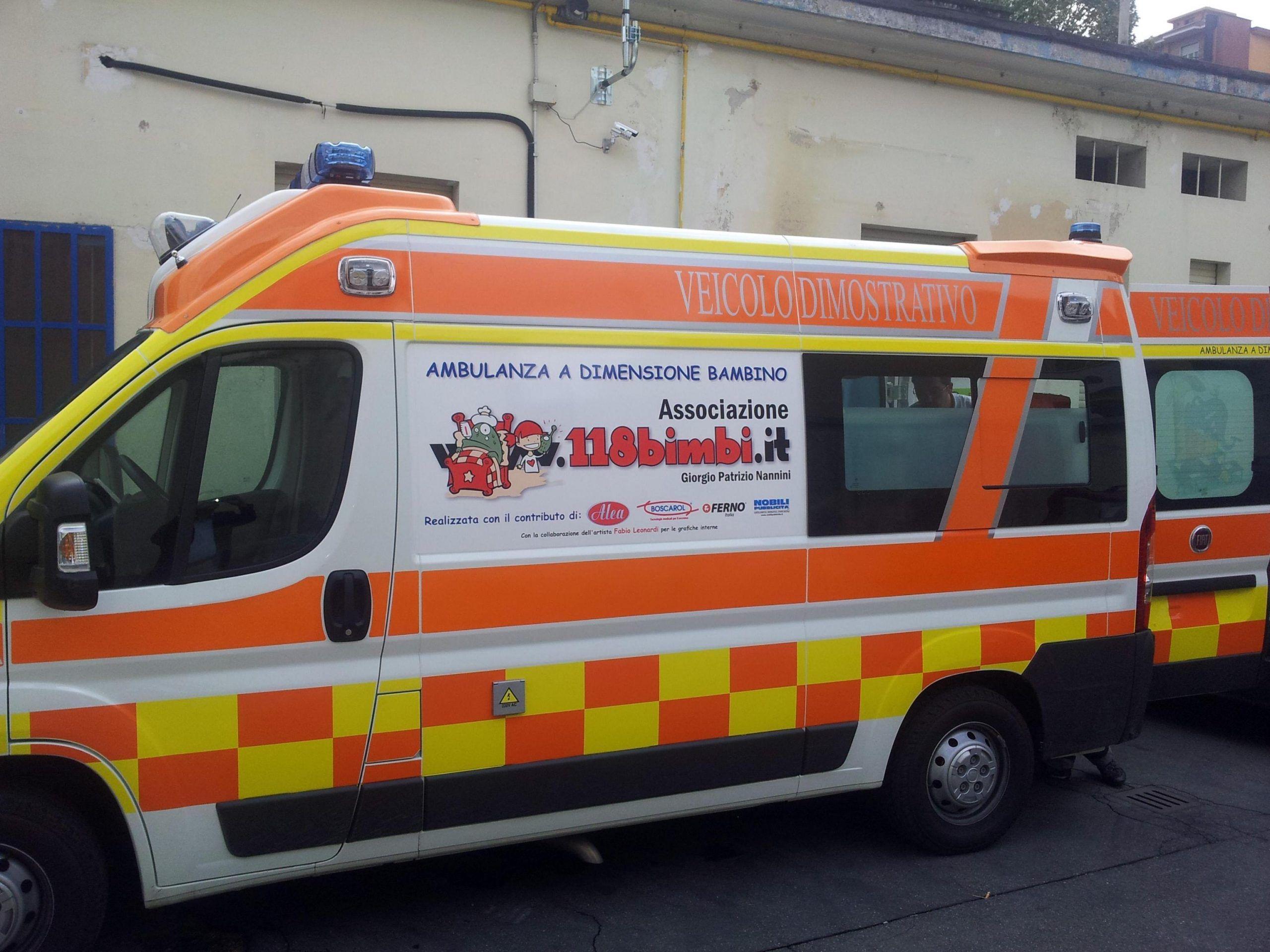 Nasce l'ambulanza a dimensione bambino