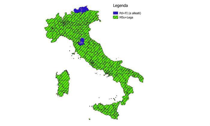 Elezioni: I. Cattaneo, a alleanza M5s Lega 90% collegi