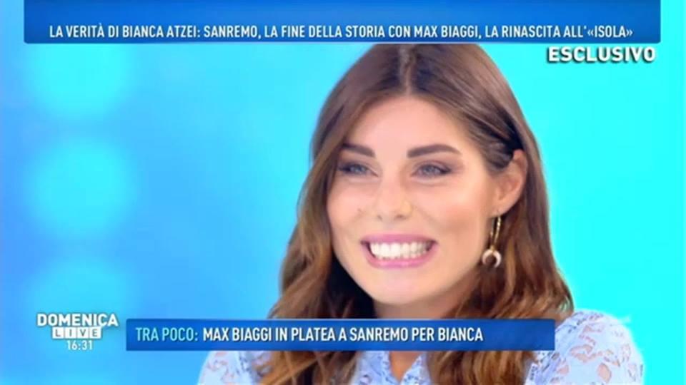 'Domenica Live', le verità di Bianca Atzei