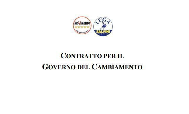 contratto di governo lega m5s
