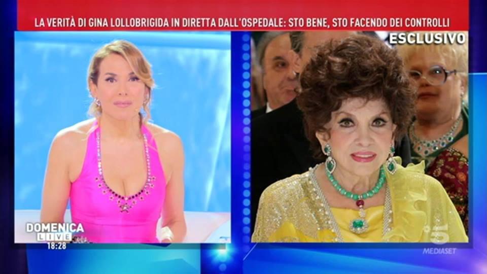 'Domenica Live', Gina Lollobrigida ricoverata in ospedale