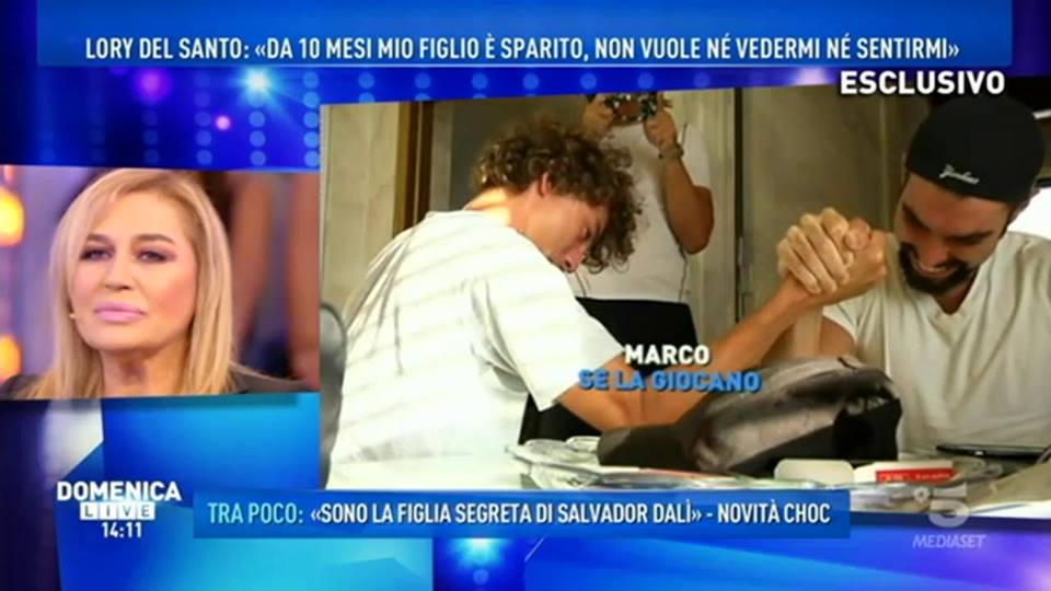 'Domenica Live', Lory Del Santo: 'Mio figlio non vuole più vedermi'