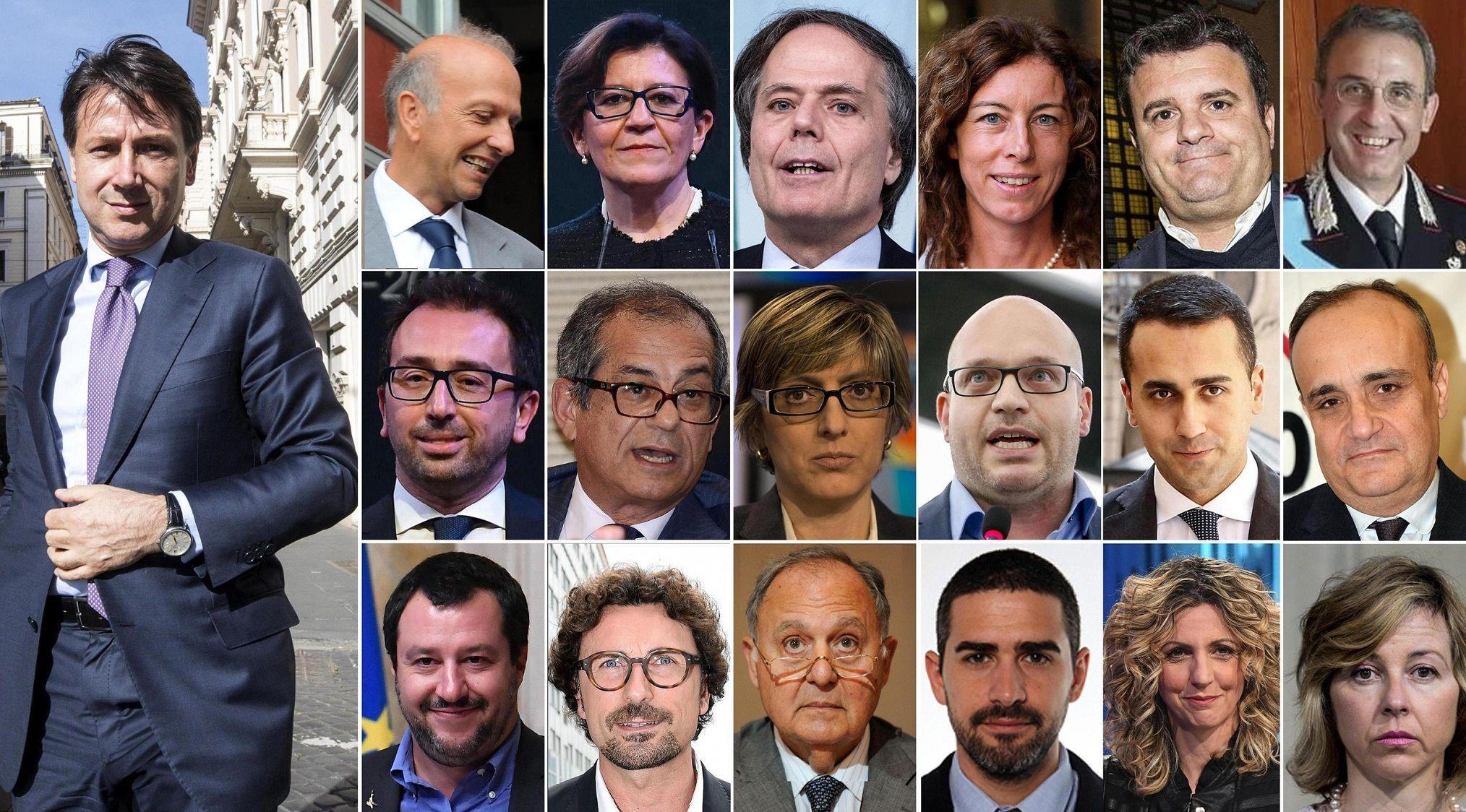 Ecco, il governo Conte; 18 ministri, 5 donne