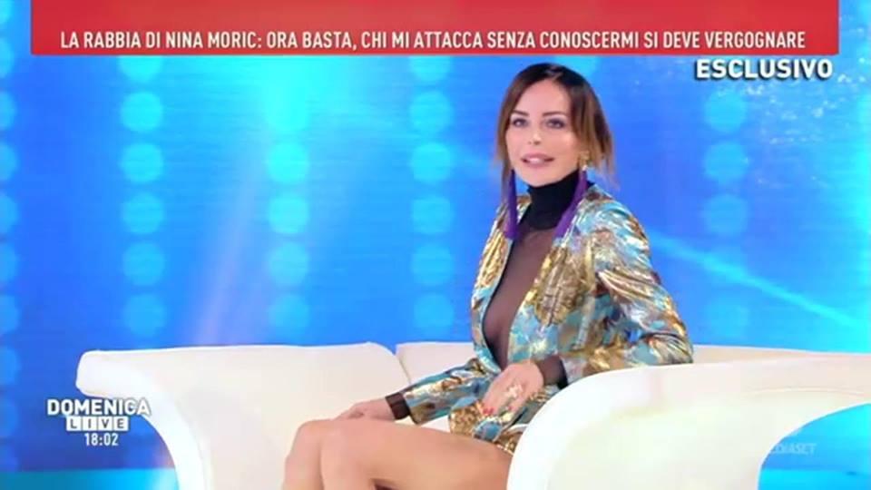 'Domenica Live', Nina Moric contro Fabrizio Corona