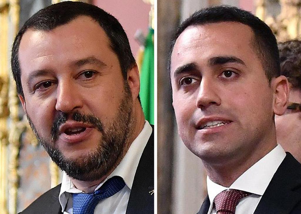 Salvini e Di Maio al Quirinale (combo)