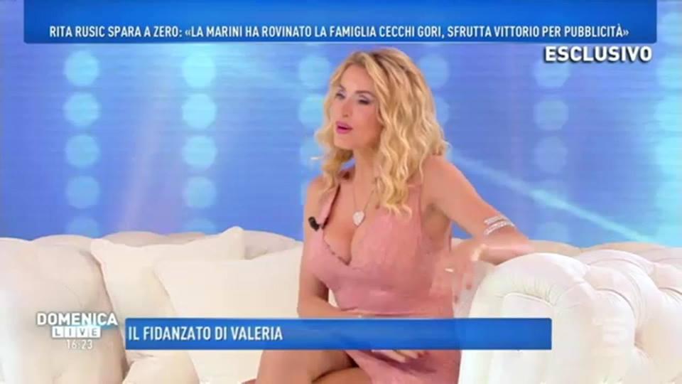 'Domenica Live', Valeria Marini risponde alle accuse di Rita Rusic